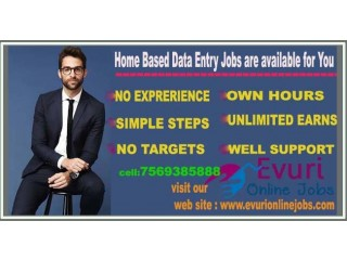 Part time and full time Home Based data entry typing jobs