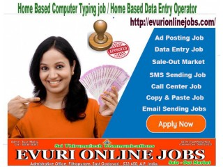 Do want genuine online home based workSimple Typing Work From Home / Part Time Home Based Computer Job